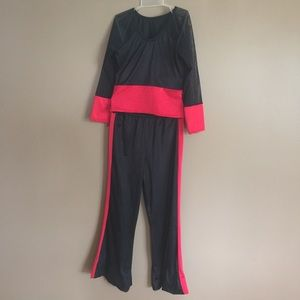 Other - Hip hop costume black &red w/ sheer sleeves